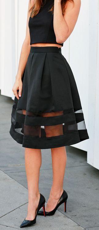 summer #fashion / black chiffon dress | Fashion, High fashion .