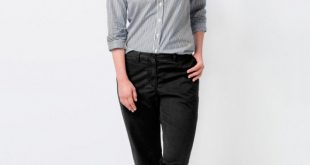 How to Wear Black Chinos for Women: 15 Amazing Outfit Ideas - FMag.c
