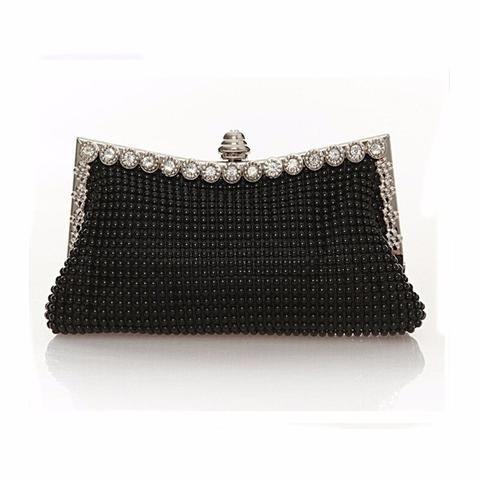 Women's Evening Bag Clutch Austrian Diamond Aluminium Shinestone .