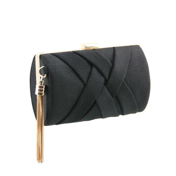 Stunning Ladies Fashionable Clutch bag - H10-3 Black - Azury Fashi
