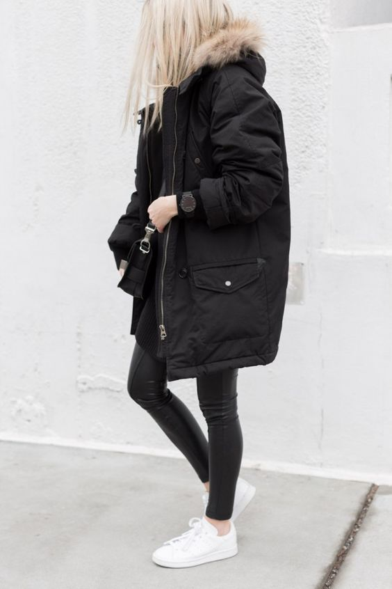 17 Ways to Style Your Parka Outfits | Fashion, Parka outfit .