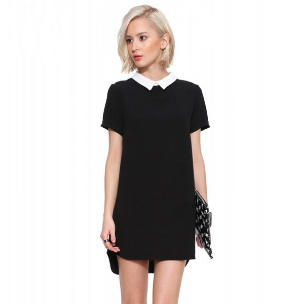 How to Wear Black Collared Dress: Top 13 Artistic Outfit Ideas for .