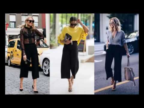 Black Culottes Outfit Ideas You Should Try This Year - YouTu