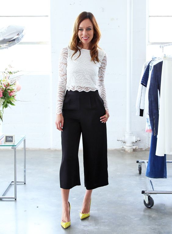 65 Black Culottes Outfit Ideas You Should Try | Style Tips For .