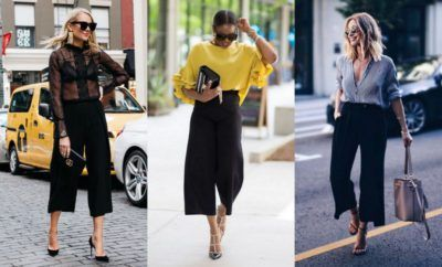 45 Black Culottes Outfit Ideas You Should Try | Black culottes .