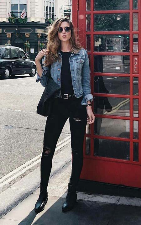Denim Jacket Outfits Ideas - What & How To Wear Denim Jacket .