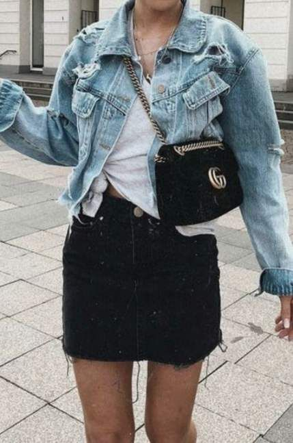 20+ Ideas For Skirt Outfits For Teens Schools Jean Jackets #skirt .