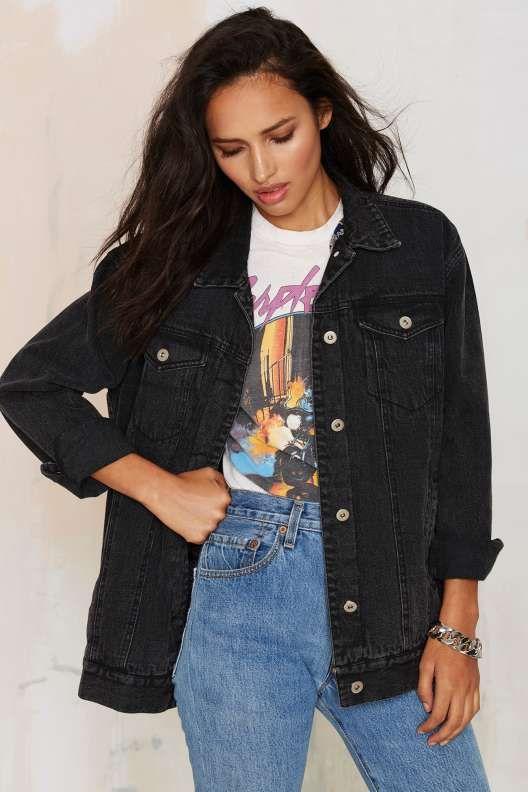 Joey Denim Jacket | Denim jacket women, Black denim jack