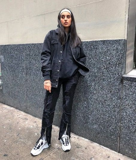 15 Black Denim Jacket Outfits for Fall | Who What We