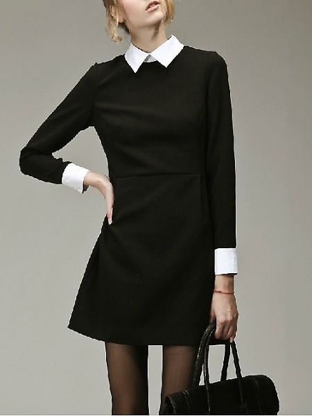 very Wednesday Addams, and I LOVE IT | Fashion, Black dress white .