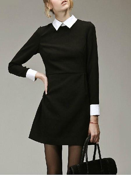 very Wednesday Addams, and I LOVE IT   Fashion, Black dress white .