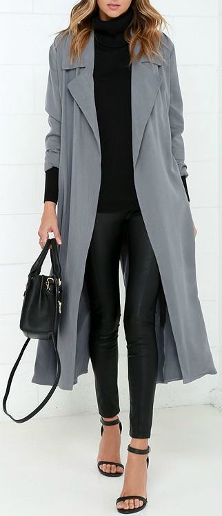 Night Drive Grey Trench Coat | Outfit ideas | Grey trench coat .