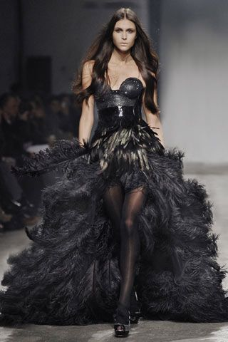 Kristian Aadnevik | Fashion, Feather dress, Dress