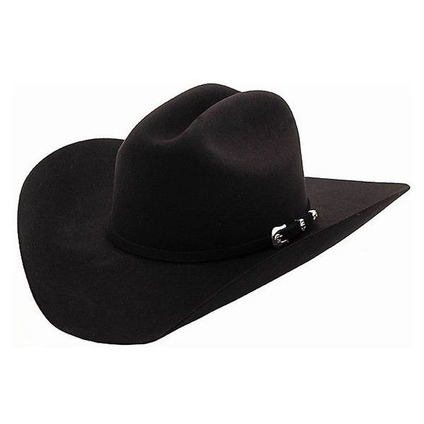 Cavender's 10X Silver Star Black Felt Cowboy Hat ❤ liked on .