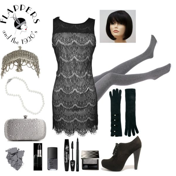 DIY last minute Flapper 20s Black and White Costume - Polyvore .