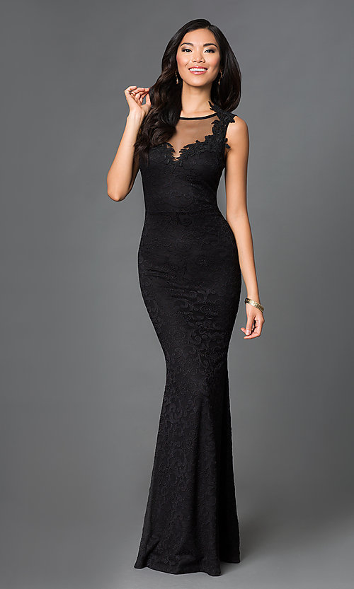 Black Sleeveless Long Prom Dress - PromGi
