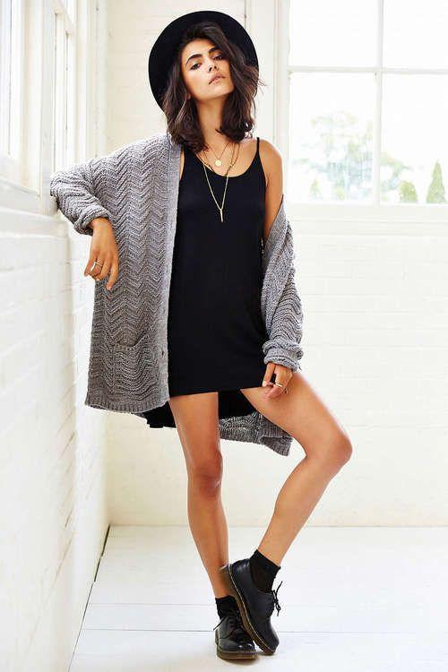 Outfit ideas | Cute outfits | Fashion, Black slip dress, Dress