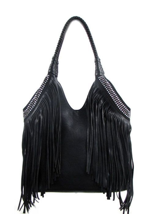 fringe purses | Black Fringe and Bling Purses ..what could be .