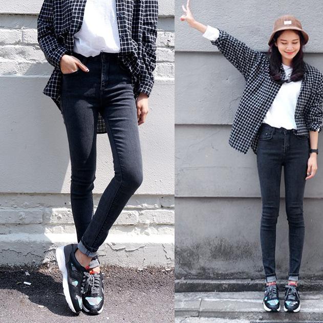 2015 Autumn Fashion Women High Waist Jeans Casual Denim Skinny .