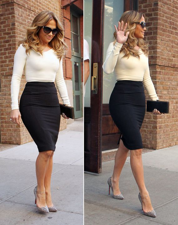 jennifer lopez - love the outfit...Pencil skirt...Love it .