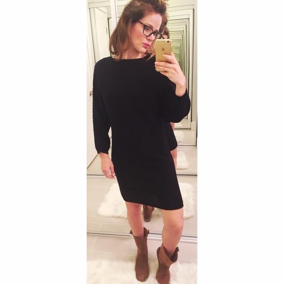 Zara Dresses | Knit Black Sweater Dress | Poshma