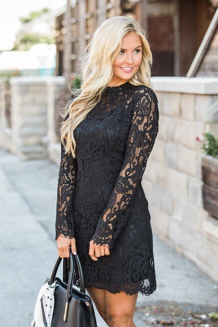 Believe In A New Love Black Lace Dress CLEARANCE | Winter fashion .