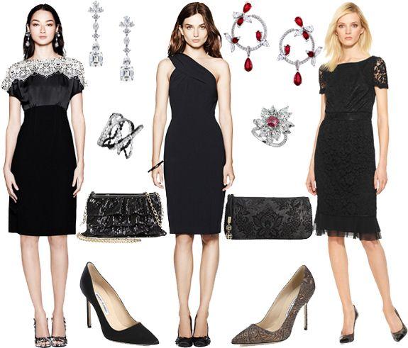 Elegant Party | Little black cocktail dress, Lace dress bla