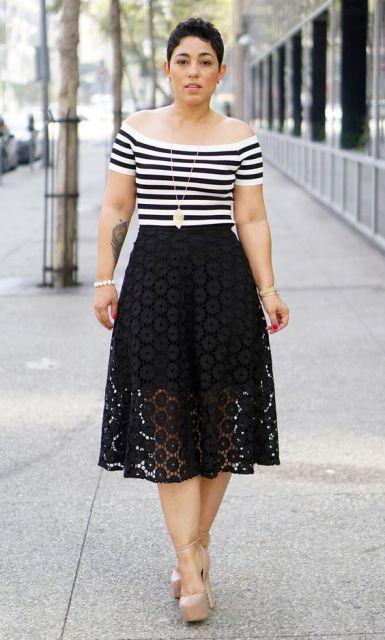 20 Elegant Lace Skirt Ideas For This Season - Styleohol