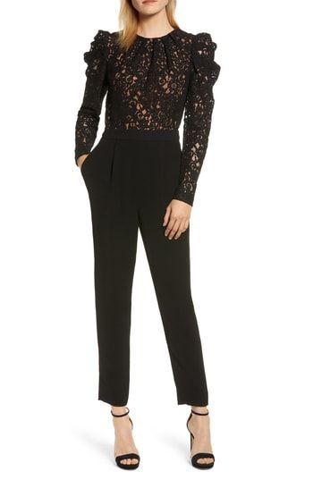 MICHAEL Michael Kors Black Lace Jumpsuit | Black lace jumpsuit .
