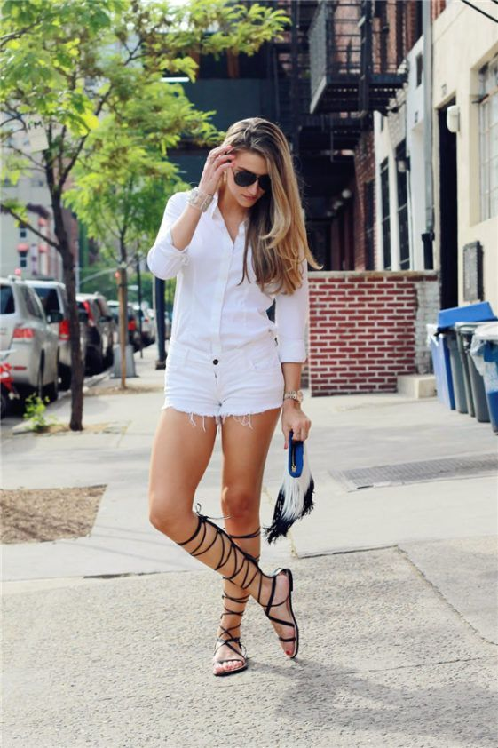 19 Beautiful Outfits With Greek Sandals glamsugar.com | Womens .
