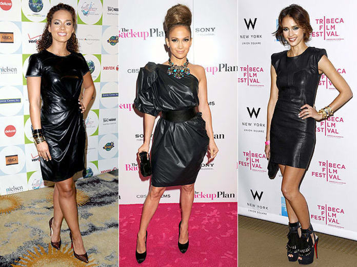 THG Trend Watch: The Black Leather Dress - The Hollywood Goss