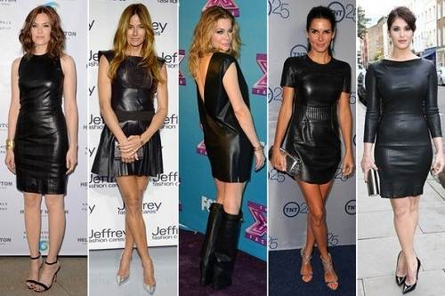 Black Leather Dress Outfits Sampl