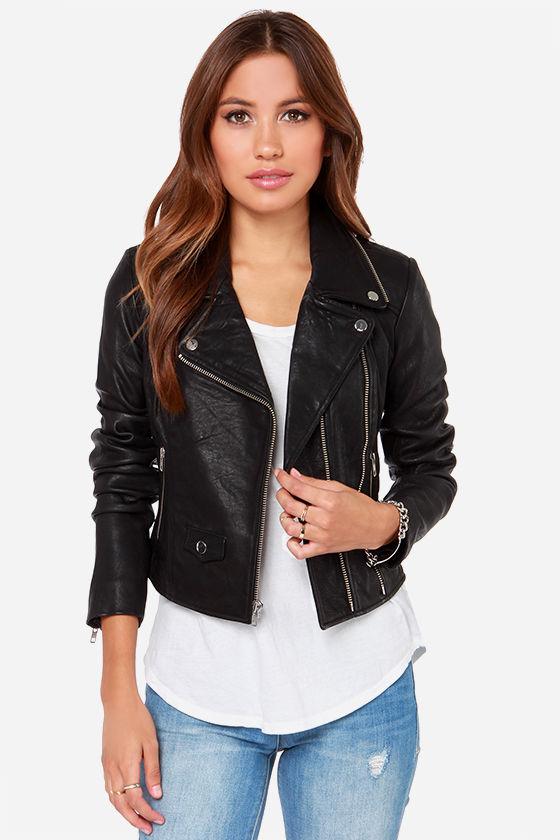 Obey Savages Jacket - Moto Jacket - Leather Jacket - $375.
