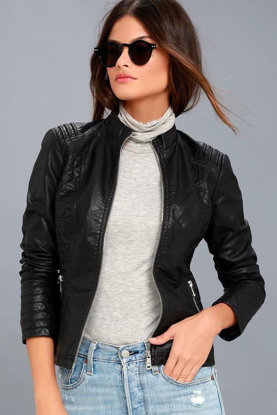 Cool Moto Jacket - Quilted Moto Jacket - Vegan Moto Jack