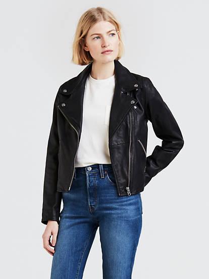 Leather Moto Jacket - Black | Levi's®