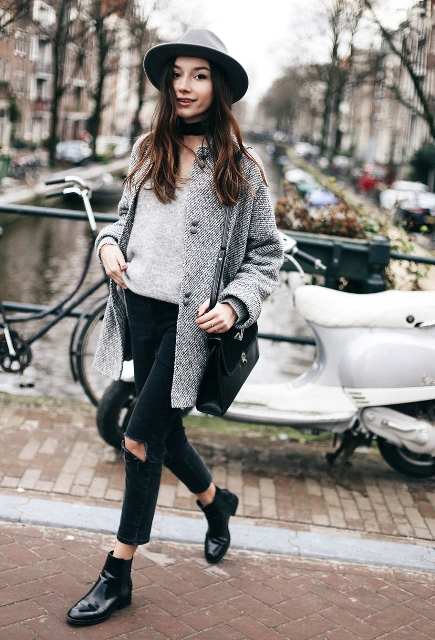 20 Women Outfit Ideas With Patent Leather Boots - Styleohol