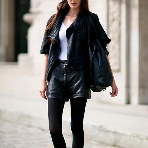 4 Cute Outfit Ideas For How To Pull Off Shorts With Tights This .