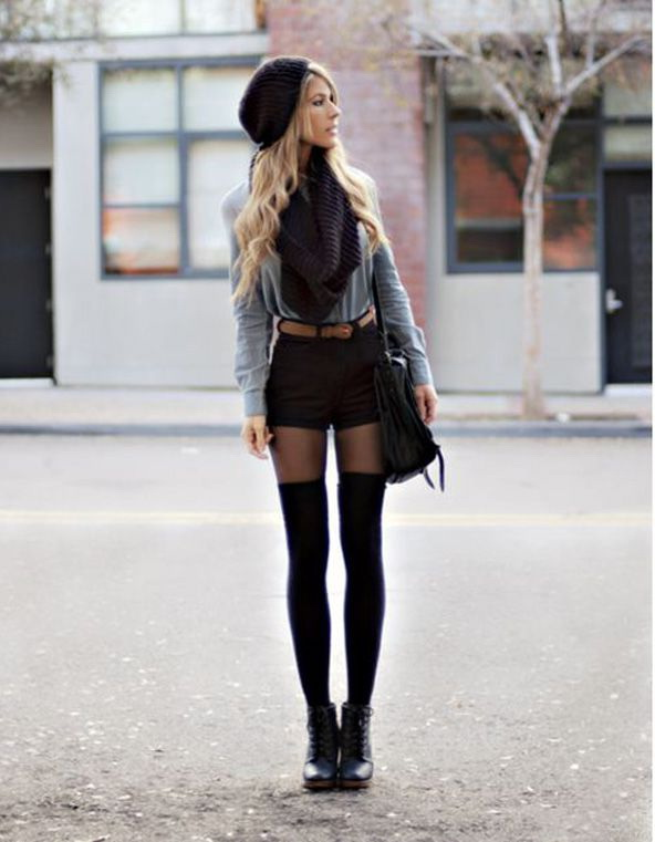 Leather Shorts For Women: Outfit Ideas 2020 - FashionTwin.c
