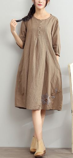 361 Best Linen dresses images in 2020 | Linen dresses, Dresses .