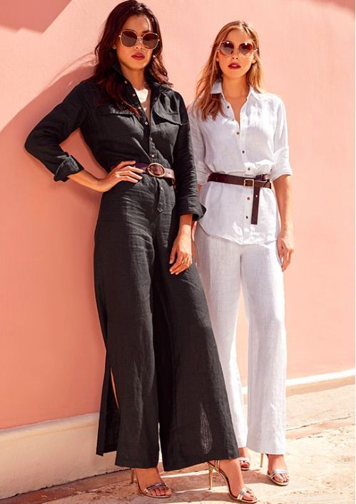 Black Linen Jumpsuit | Fashion, Today's fashion trends, Trending .