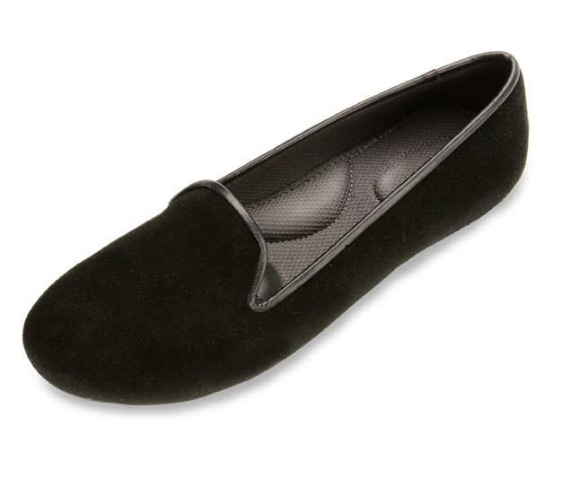 Black Loafers For Women - Suede Shoes By Plug