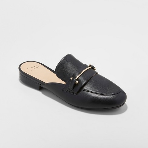 Women's Remmy Backless Loafers - A New Day™ Black : Targ