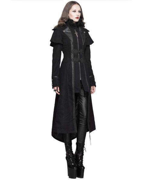 Devil Fashion Gothic Coat Long Black Steampunk Jacket Wome