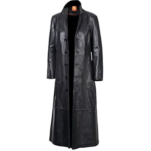 Long Leather Coat: Amazon.c