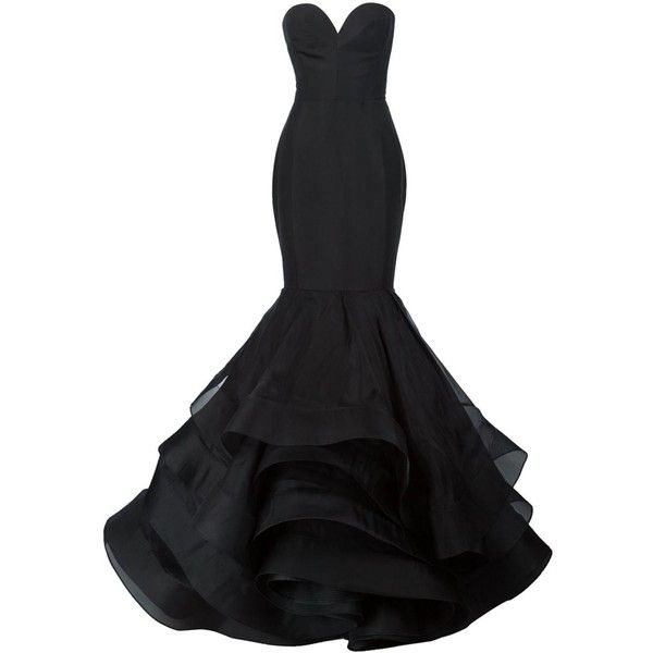 Christian Siriano ruffled mermaid gown ($9,365) ❤ liked on .