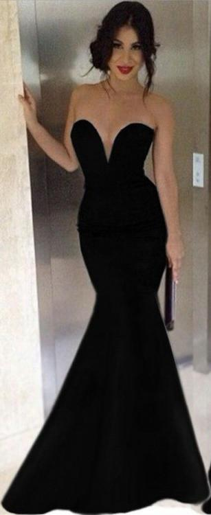 Black Mermaid Prom Dress Dresses Graduation Party Lilly Simplistic .