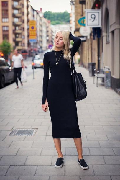 dress, black midi dress, black dress, midi dress, bodycon dress .
