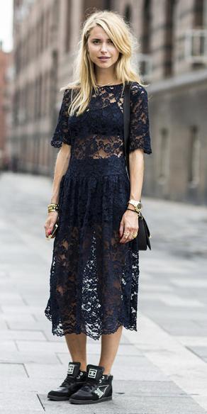Black midi dresses | HOWTOWEAR Fashi