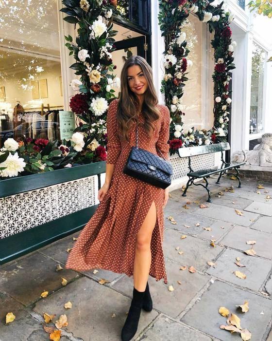 TOPSHOP - Multicolor Rust Spot Print Shirt Dress - Lyst | Midi .