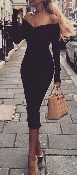Venus black bodycon dress | Classy outfits, Classy dress, Fashi